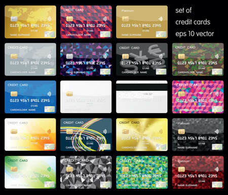 Set of Credit Cards Ilustracja