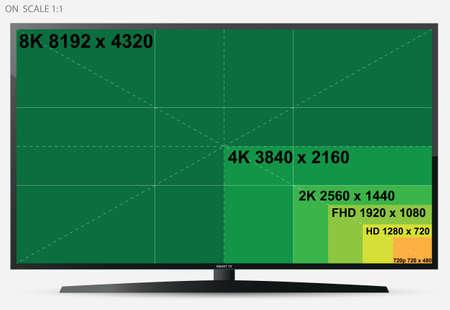 TV Screen (On Scale 1: 1)  イラスト・ベクター素材