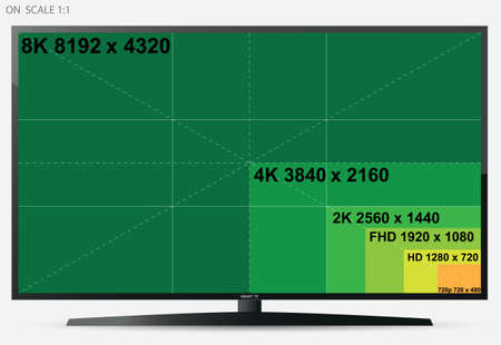 TV Screen (On Scale 1: 1) Illustration