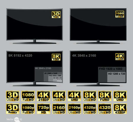 pantalla de la televisión digital de alta definición