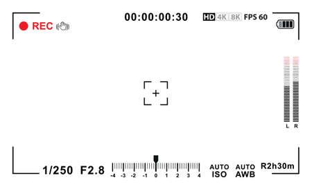 Video-Kamera-Sucher-Vorlage Standard-Bild - 56871766