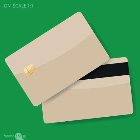 bankcard: Blank membership card Illustration