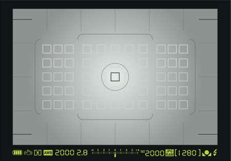 Pantalla de enfoque de la cámara Ilustración de vector