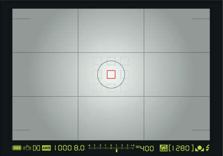 Camera focusing screen