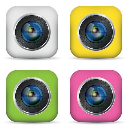 Set of photo apps icon