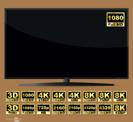 full: High definition digital television screen
