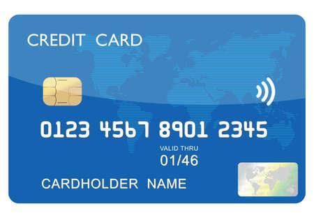 bankcard: credit card Illustration