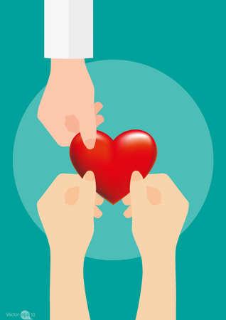 needy: heart and love Illustration