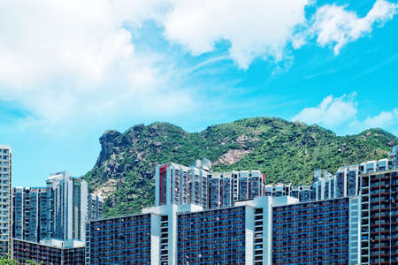 hk: Lion Rock Hill, Hong Kong Stock Photo