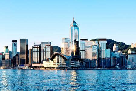 香港市内 写真素材