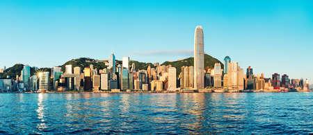 Zonsopgang tijd in Hong Kong Stockfoto