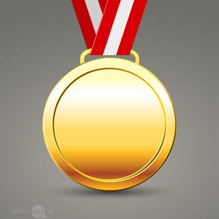levels: gold medal Illustration