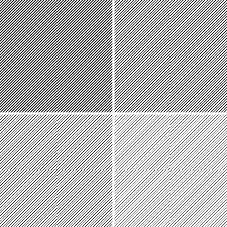 slanting: Set of Seamless black Slanting Lines Illustration