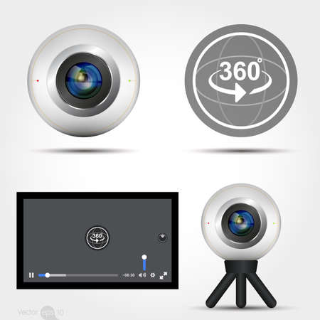 cam gear: Virtual Reality 360 Media player interface