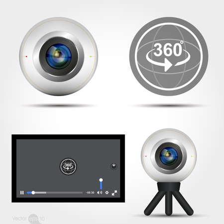 len: Virtual Reality 360 Media player interface