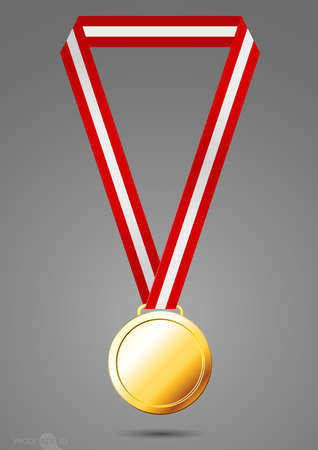 gold medal Illustration