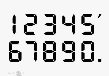Calculator digital numbers. Illustration