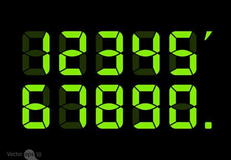 Calculatrice chiffres numériques. Vecteurs