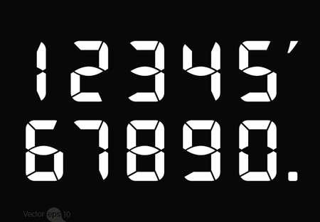 digital numbers: Calculator digital numbers. Illustration