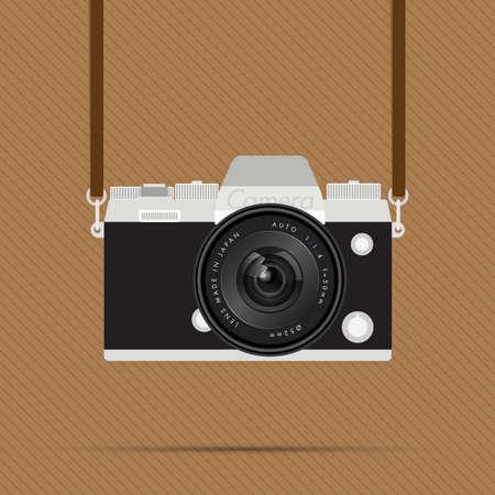 artistic photography: retro camera Illustration