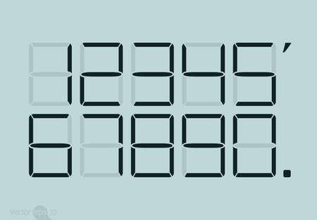 numbers: Calculator digital numbers. Illustration