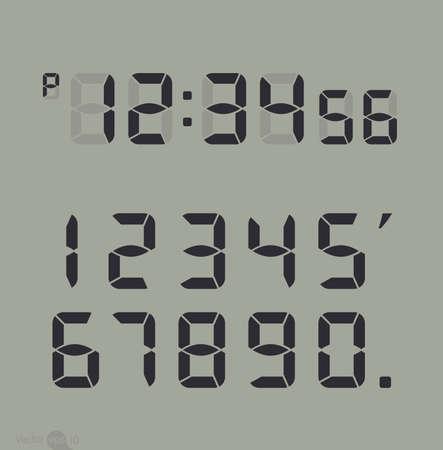 digital clock: Digital clock & number set