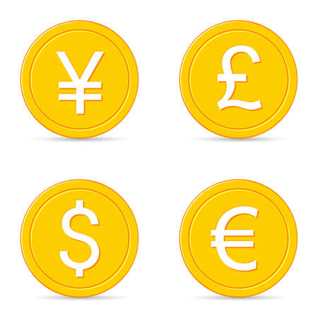 currency symbol: World currency icons