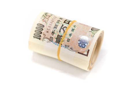 noted: closeup of Japanese yen bank noted Stock Photo
