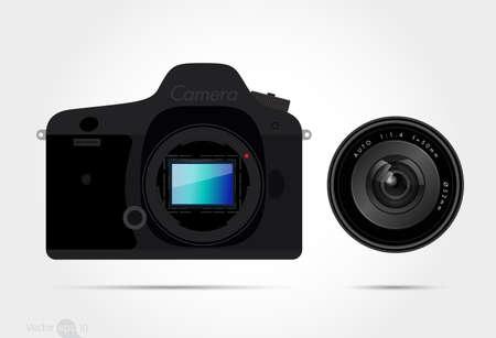 cámara digital  Ilustración de vector