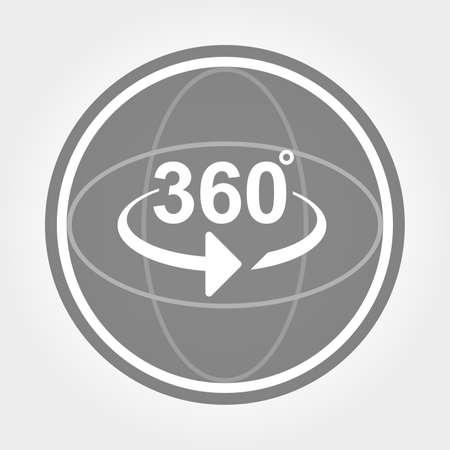 360 gradi di vista di icona segno Archivio Fotografico - 62128452