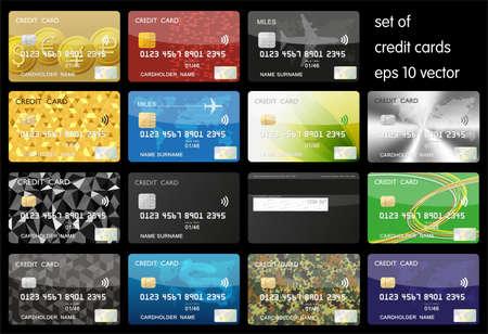 クレジット カードのセット