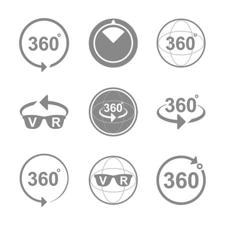 Set of Angle 360 ??degrees sign icons