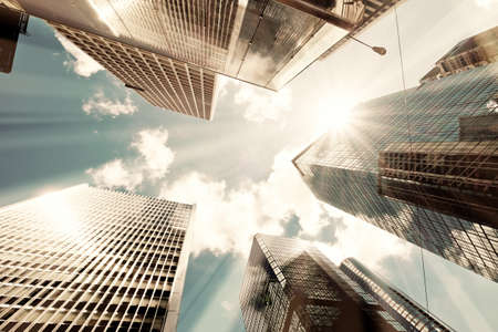 negro: Rascacielos tomadas con perspectiva
