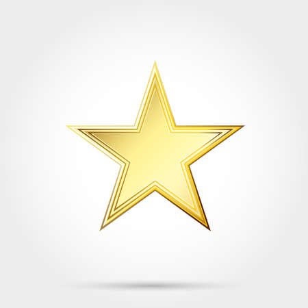 gold: gold star Illustration