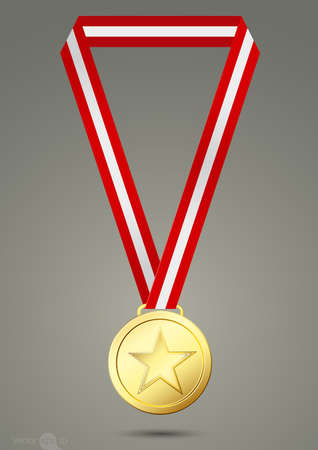 bestowal: star medal Illustration