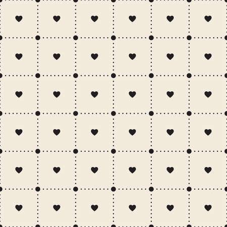 seamless patterns: Vector seamless heart pattern