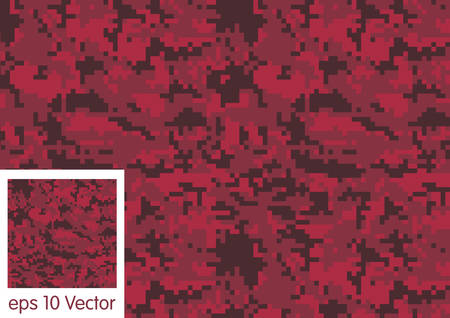 color conceal: Digital Camouflage pattern vector
