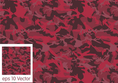 acu: red camouflage pattern vector