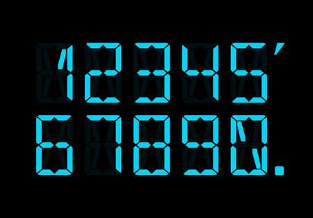 numbers: Calculator digital numbers