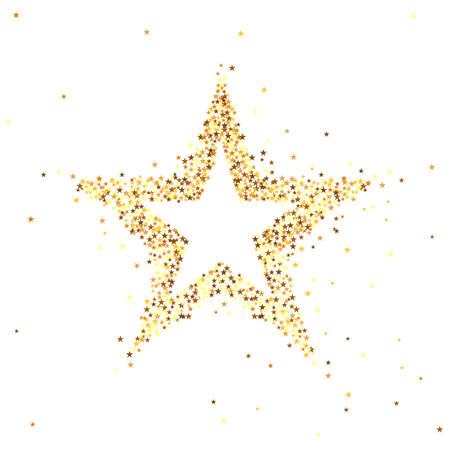 Illustrazione vettoriale di stella d'oro Archivio Fotografico - 64658572