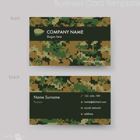 namecard: Camouflage Pattern Business Card Template