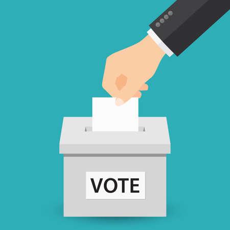 投票の概念  イラスト・ベクター素材