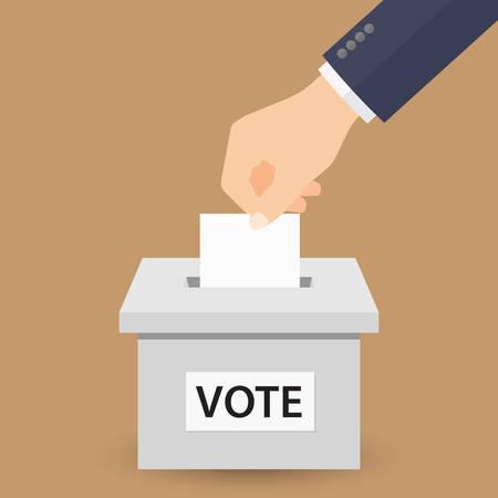 Concept de vote.  Vecteurs