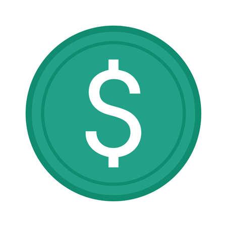 denaro icona Vettoriali
