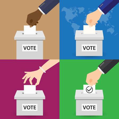 voting: Set of Voting Concept Illustration