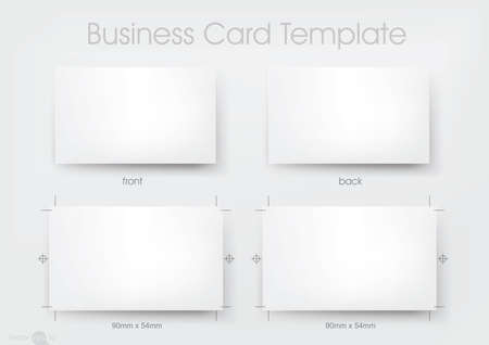 namecard: business card template Illustration