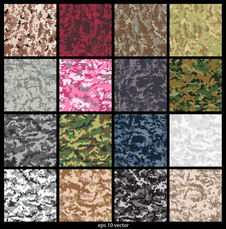 acu: Seamless Digital Camouflage pattern vector