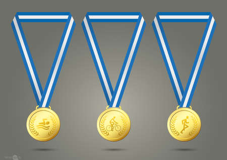 medal: Triathlon Gold Medals