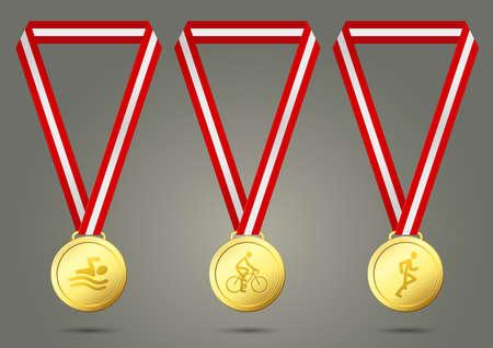 Triathlon Gold Medals