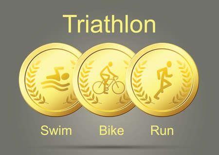 swim race: Triathlon Gold Medals